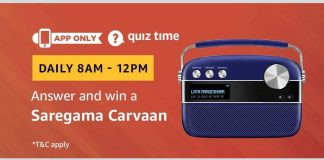 Amazon Saregama Carvaan Quiz Answers