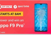 (Answers Added)Amazon Oppo F9 Pro Quiz - Answer & Win Oppo F9 Pro