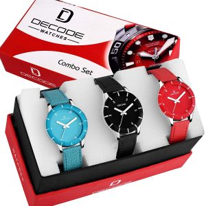 Amazon Steal Deal – Get  Ladies Multi Combo of 3 Watch In just Rs 449