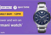 (All Answers)Amazon Armani Watch quiz Answers
