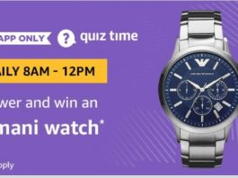(All Answers)Amazon Armani Watch quiz Answers