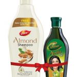 Get Dabur Almond Shampoo, 350ml with Free Amla Hair Oil, 275ml in Just Rs.158