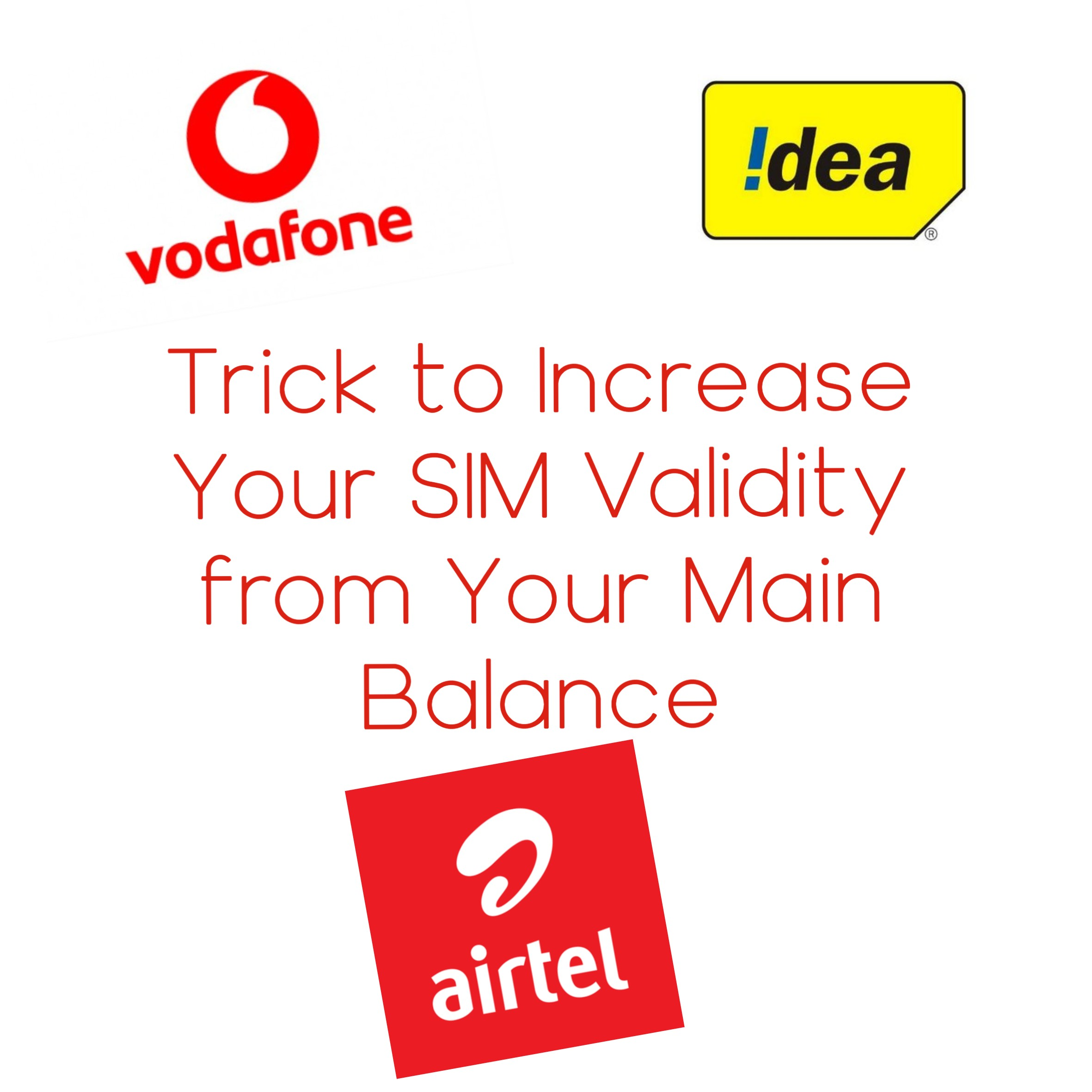 Trick to Increase Your SIM Validity from Your Main Balance