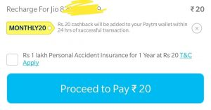 (*Working*) Get Rs 20 Free Recharge From Paytm