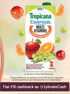 (Freebie)Get Free Sample ofTropicana 200ml (Pack of 2) Sample from Lybrate
