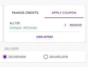 (Loot)Faasos Loot - Order Food Worth Rs.250 Free (100% Cashback)