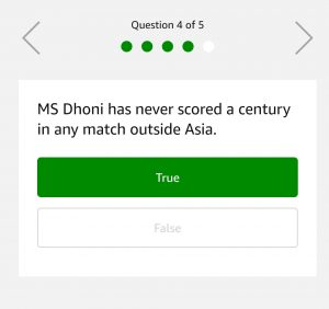 (18th February)Amazon Quiz Time - Answer & Win Rs.25000