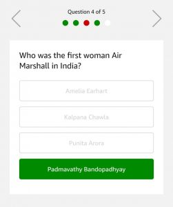 Amazon Quiz 25th February Answers - Win Rs.75000