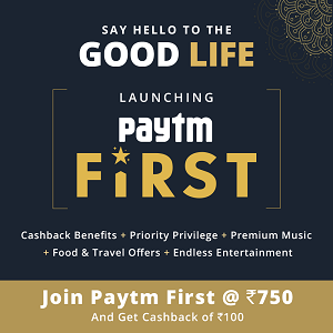 PayTM First Membership - Join & Get Free Premium Food, Travel, Music Offers