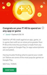 (Proof Added) Get Free Google play credit