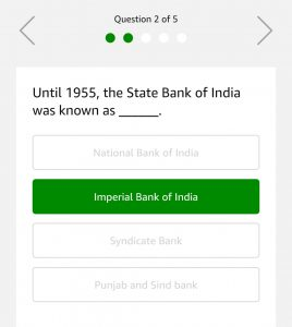 Amazon Quiz 1st March Answers - Win Rs.10000