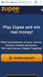 (Unlimited) Get Free Rs.10 PayTM Cash From Zupee App (Rs.10/Refer)