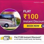 Flipkart Bus Ticket Offer - Get Rs.100 Off on No Minimum Order