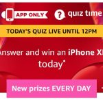 (All Answers)Amazon iPhone XR Quiz - Answer & win iPhone XR