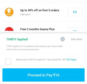 (Loot)Free Recharge Trick - Get Free Recharge of Rs.30 from Paytm