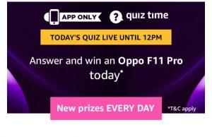 Amazon Oppo F11 Pro Quiz - Answer & Win Oppo F11 Pro
