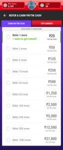 (Proof) MPL App - Refer 1 Friends and Get Rs.25 Free   Earn upto Rs.5000