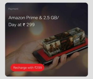Get Amazon Prime Free from Airtel 299 Plan + Daily 2.5 GB Data & Unlimited Calls
