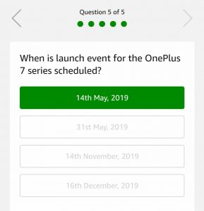 (All Answers)Amazon OnePlus 7 Pro Quiz - Answer & Win Free OnePlus 7 Pro