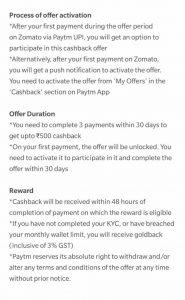 Zomato PayTM Offer - Pay with PayTM UPI & Get Cashback of Rs.50