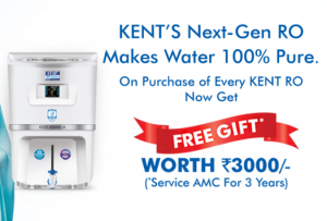 Get Free Demo of Kent Water Purifier + Free ₹3000 Gift Card on Purchase