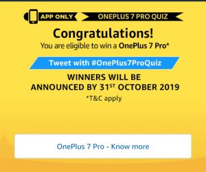 Amazon OnePlus 7 Pro Quiz Answers