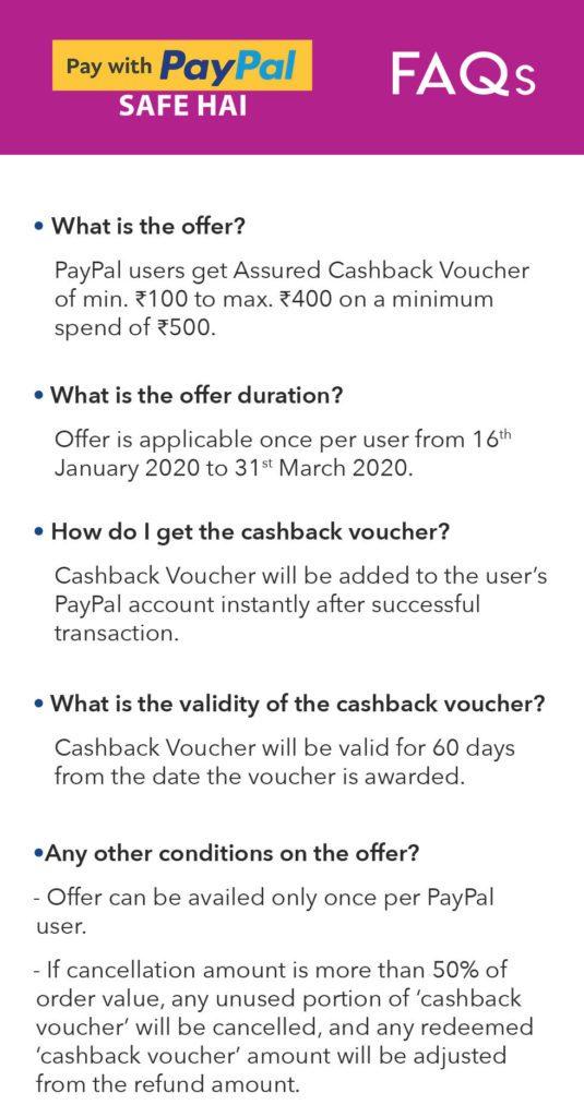 Myntra PayPal Offer – Upto ₹400 Cashback On ₹500 Shopping