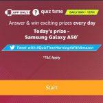 Amazon Samsung Quiz - Answer & Win Samsung Galaxy A50