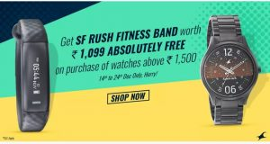 Buy Fastrack Watch Rs.1500+ & Get a SmartBand worth Rs.1099 Free