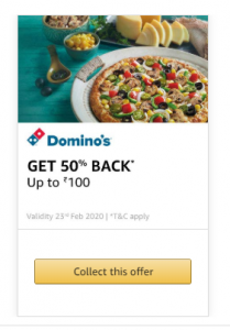 Amazon Pay Food Offers