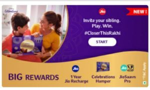 Jio Cadbury Celebration Closer this Rakhi Offer