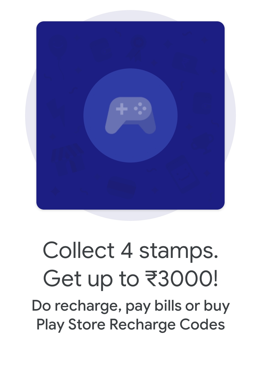 GooglePay Collect Stamps Offer