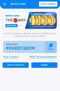 MyTeam11 App Referral Code