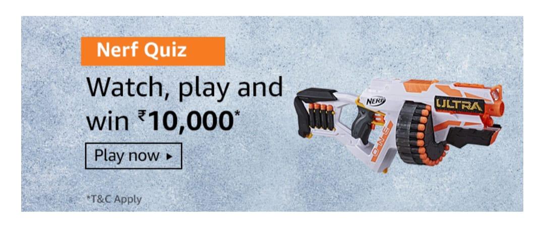 Amazon Nerf Quiz Answers