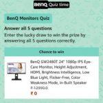 Amazon BenQ MonitorsQuiz Answers