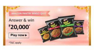 Amazon Pantry Bingo Quiz Answers – Win ₹20000 Amazon Pay