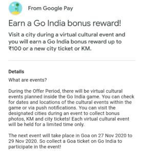 Googe Pay Go India Goa Ticket Event Quiz Answers