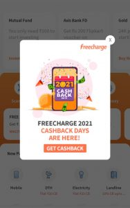 Freecharge 2021 Cashback Days