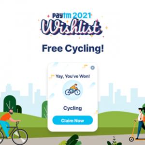 Free Cycling Card Paytm Wishlist