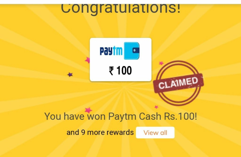 Proof of Free PayTM Cash From From Crownit