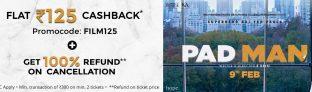 Padman Movie Offer – Get Flat Rs.125 Cashback on Paytm Movie Booking