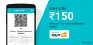 Amazon Ridlr Offer – Get up to Rs.150 Cashback in Mumbai Metro