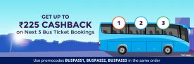 Paytm Bus Tickets Offer – Get Rs.50/75/100 Cashback on Bus Ticket Booking