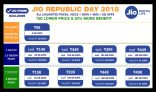 Jio Republic Day Offer – Price Cut and Increased Data on All Latest Jio Plans