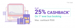 PhonePe Bus Ticket Offer – Get 25% Cashback up to Rs.500 on Bus Booking