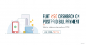 FreeCharge Postpaid Offer – Get Rs 50 Cashback on Postpaid Bill Payment