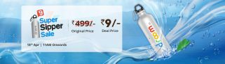 Droom Sipper Flash Sale – Get Sipper Worth Rs.499 in Rs.9