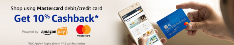 Get 10% Cashback with Mastercard on Amazon Pay