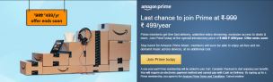 Amazon Prime Offer – Get Memberships at Flat 50% Off before 31st Oct