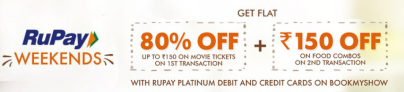 Bookmyshow Rupay Offer – Get 80% Off on Movie Tickets through Rupay Cards